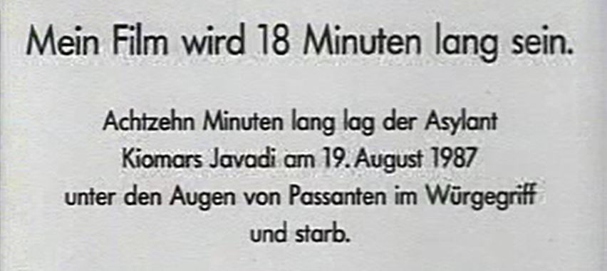 Film 18 Minuten Zivilcourage
