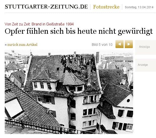 Geissstraßen-Brand in