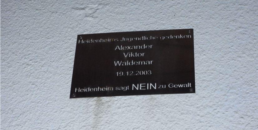 Gedenktafel Heidenheim