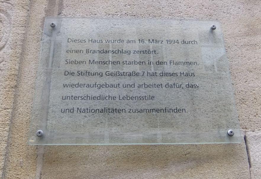 Gedenktafel Geißstraße 7