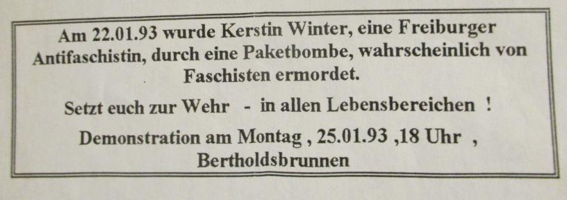 Kerstin Winter Erinnerungsdemo